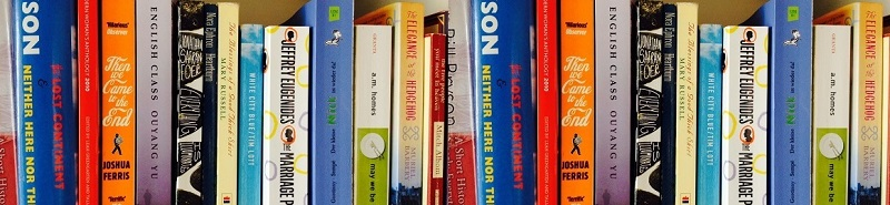 Book Spines at a site for book reviews and reading ideas for adults